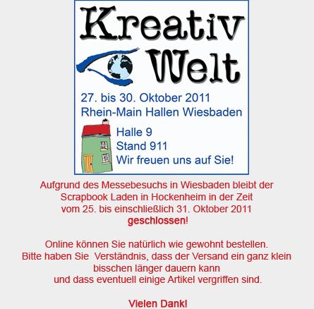 Kreativ Welt Wiesbaden Der Scrapbook Laden Hockenheim