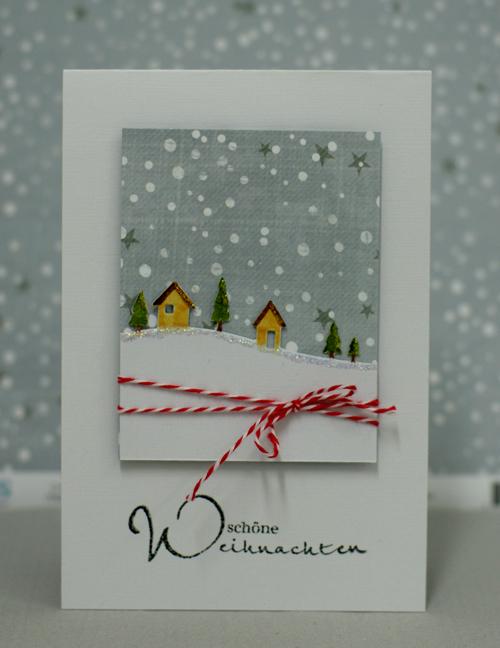 schoene Weihnachten Weihnachtskarte