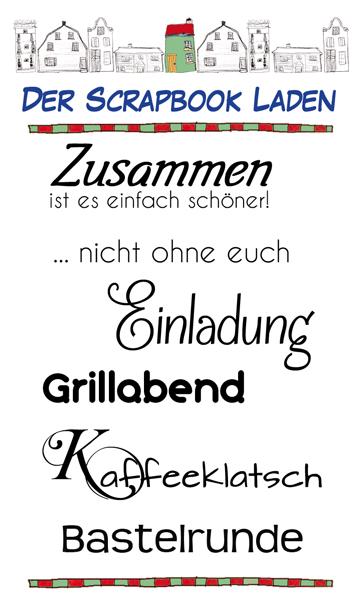 Zusammen - deutsche Textstempel