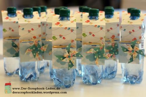 Flaschenanhänger mit Hanuta