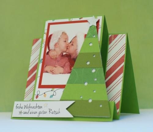 Stepper karte weihnachten card