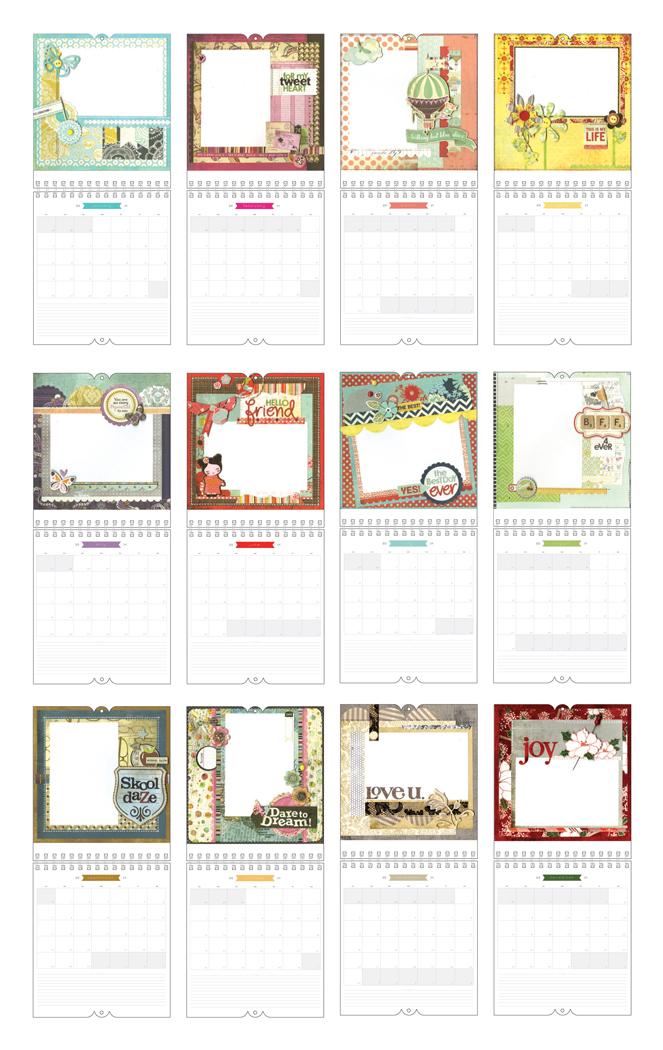 kalender 2014 der scrapbook laden blog. Black Bedroom Furniture Sets. Home Design Ideas