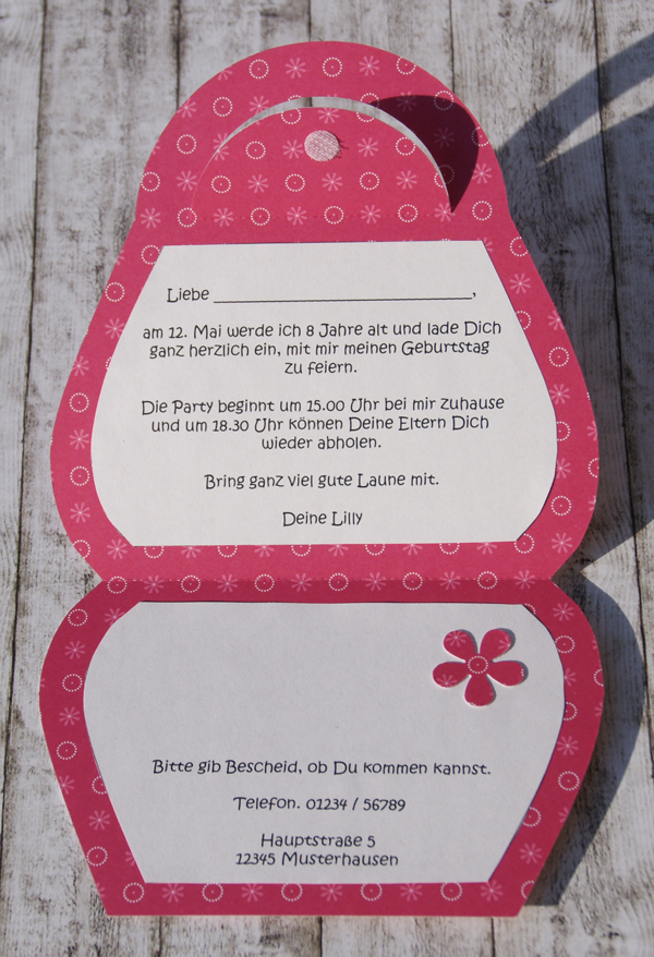 einladung zum kindergeburtstag | der scrapbook laden blog, Einladung