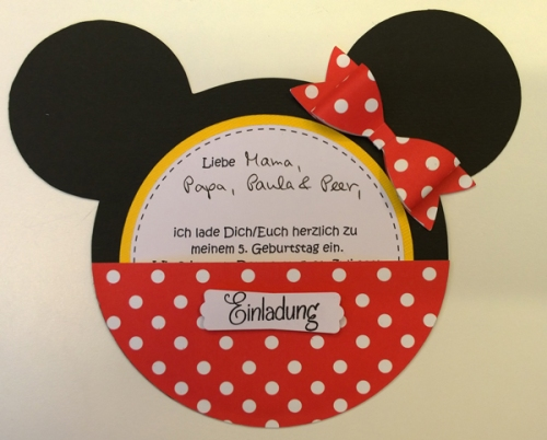 Minnie Mouse Einladung