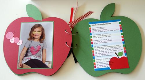 kindergarten abschied apfelbaum mit apfelalbum der. Black Bedroom Furniture Sets. Home Design Ideas